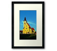 The village church of Sankt Marienkirchen | architectural photography Framed Print