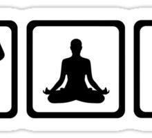 Yoga sports Sticker