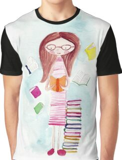 Can't talk, reading Graphic T-Shirt