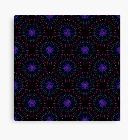 Fireworks (Electric Blue) Canvas Print