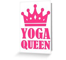 Yoga Queen Greeting Card