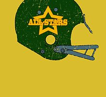 Vintage Look American Football Helmet All-Stars by VintageSpirit