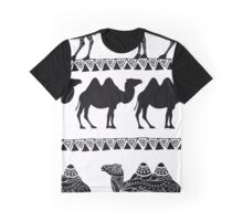 Camel pattern Graphic T-Shirt