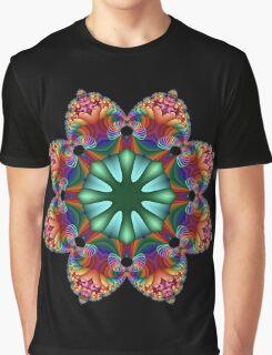 Satin Rainbow Fractal Flower I Graphic T-Shirt