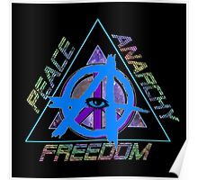 Peace and Anarchy - Freedom Poster