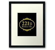 221B Baker Street copy Framed Print