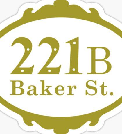 221B Baker Street copy Sticker