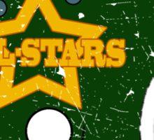 Vintage Look American Football Helmet All-Stars Sticker