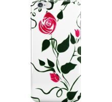 Floral wall panel iPhone Case/Skin