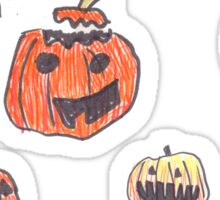 13 pumpkins Sticker