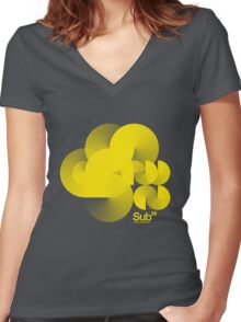 Cloud Sub Women's Fitted V-Neck T-Shirt