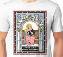 ST ANNE under STAINED GLASS Unisex T-Shirt