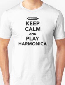 Keep calm and Play Harmonica T-Shirt