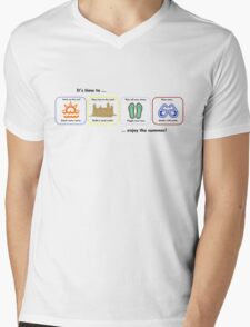 Enjoy the Summer Mens V-Neck T-Shirt