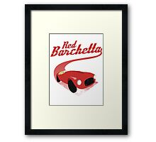 Red Barchetta Framed Print