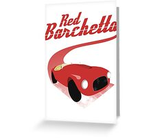 Red Barchetta Greeting Card