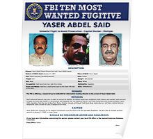Wanted By FBI Poster