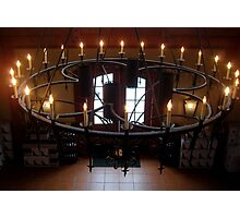 Wrought Iron Chandelier  ^ Photographic Print