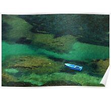 Little blue boat - Kalymnos island Poster