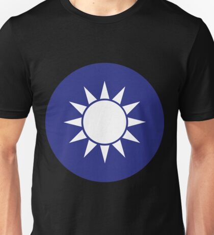 "Taiwan ""Blue Sky with a White Sun"" Emblem Unisex T-Shirt"