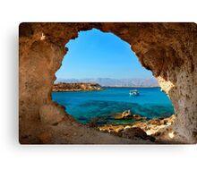 Window to the Libyan Sea Canvas Print