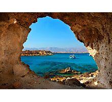 Window to the Libyan Sea Photographic Print