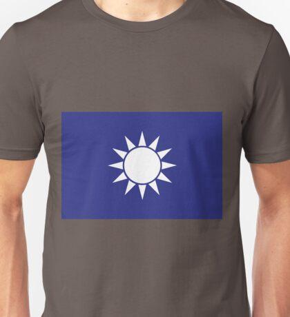 Blue Sky with a White Sun Flag (Tawain)  Unisex T-Shirt