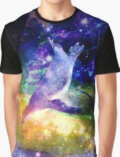 Space Penguin Graphic T-Shirt