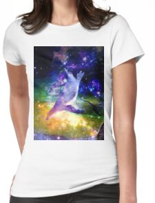 Space Penguin Womens Fitted T-Shirt