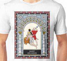 ST. ARCADIUS OF MAURETANIA under STAINED GLASS Unisex T-Shirt