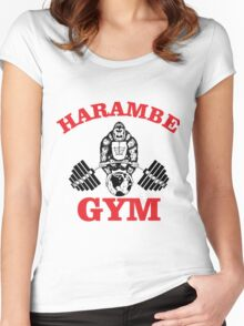 harambe fitness Women's Fitted Scoop T-Shirt