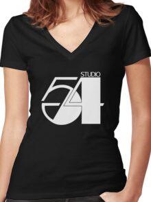 Studio 54 Women's Fitted V-Neck T-Shirt