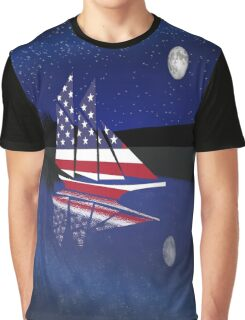 Sail Under the Moon Graphic T-Shirt