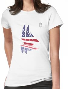 Sail Under the Moon Womens Fitted T-Shirt