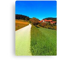 Country road, take me up Canvas Print