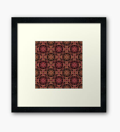 Brown red ornament.  Framed Print