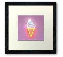 ice cream time Framed Print