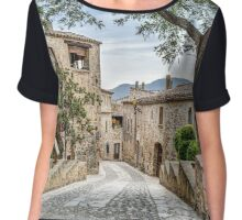 Pals, A Lovely Medieval Village (Catalonia) Chiffon Top