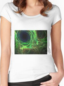 abstract color Women's Fitted Scoop T-Shirt
