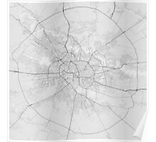 Bucharest, Romania Map. (Black on white) Poster
