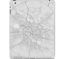 Bucharest, Romania Map. (Black on white) iPad Case/Skin