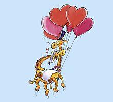 GIRAFFES IN LOVE by MagicPike