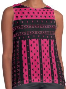Hot Pink Triangles And Bows Contrast Tank
