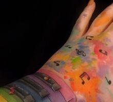 Piano Arm Sticker