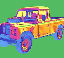 1971 Land Rover Pick up Truck Pop Art by KWJphotoart