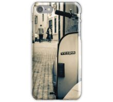 An old Vespa scooter iPhone Case/Skin