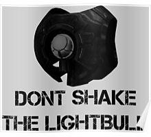 Don't shake the lightbulb. Poster