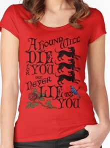 A Hound's Words Women's Fitted Scoop T-Shirt