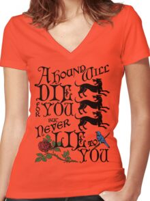 A Hound's Words Women's Fitted V-Neck T-Shirt