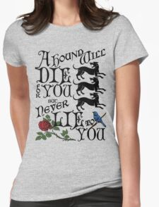 A Hound's Words Womens Fitted T-Shirt